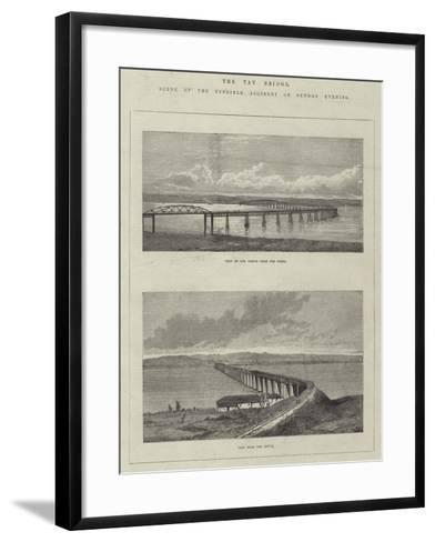 The Tay Bridge, Scene of the Terrible Accident on Sunday Evening--Framed Art Print