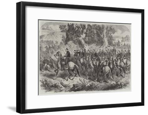 French Mounted Zouaves, Employed as Contre-Guerrillas in Mexico--Framed Art Print