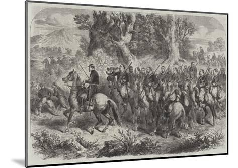 French Mounted Zouaves, Employed as Contre-Guerrillas in Mexico--Mounted Giclee Print