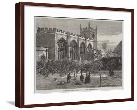 Shakespeare's Garden and Old Guild Chapel, Stratford-On-Avon--Framed Art Print