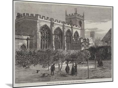 Shakespeare's Garden and Old Guild Chapel, Stratford-On-Avon--Mounted Giclee Print