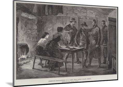 Arresting Moonlighters in a Cabin Near Castle Island, Kerry--Mounted Giclee Print
