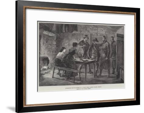 Arresting Moonlighters in a Cabin Near Castle Island, Kerry--Framed Art Print