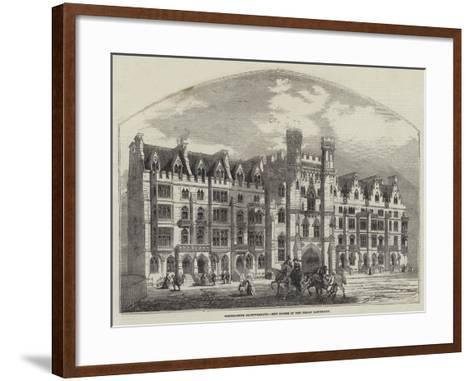 Westminster Improvements, New Houses in the Broad Sanctuary--Framed Art Print