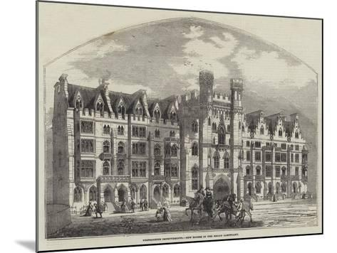 Westminster Improvements, New Houses in the Broad Sanctuary--Mounted Giclee Print