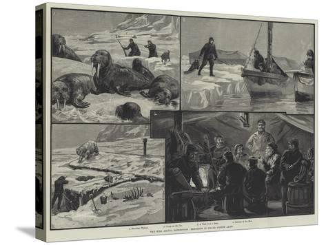 The Eira Arctic Expedition, Sketches in Franz Joseph Land--Stretched Canvas Print