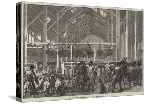 The New Foreign Cattle Market, Deptford, the Central Shed--Stretched Canvas Print