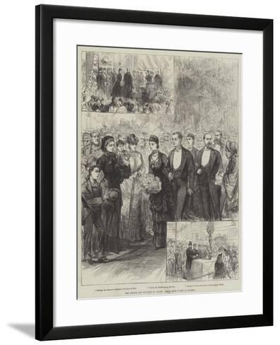 The Prince and Princess of Wales, their Good Works in London--Framed Art Print