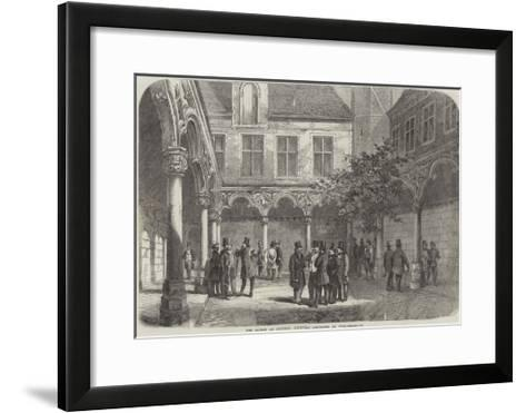 The Bourse at Antwerp Recently Destroyed by Fire--Framed Art Print