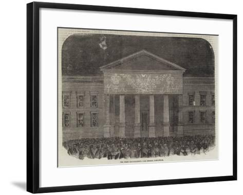 The Peace Illuminations, the General Post-Office--Framed Art Print