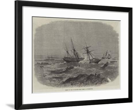 Wreck of the Steam-Ship Earl Percy at Tynemouth--Framed Art Print