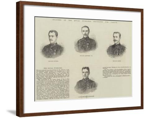Soldiers of the Royal Fusiliers Decorated for Valour--Framed Art Print