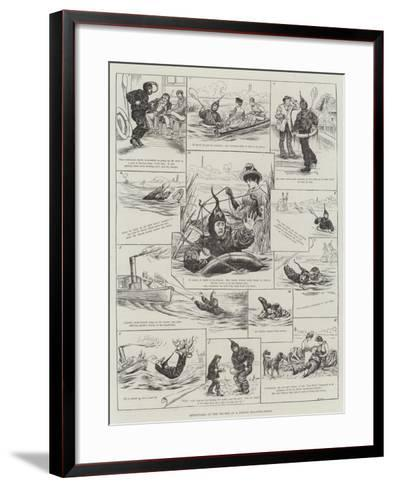 Adventures on the Thames in a Boyton Floating-Dress--Framed Art Print