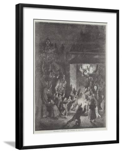 Children's Parties, the Shower of Toys at Christmas--Framed Art Print