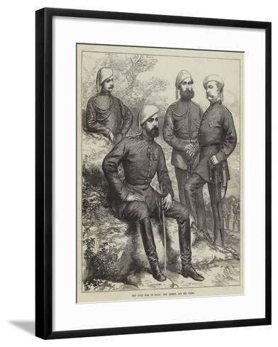 The Civil War in Spain, Don Carlos and His Staff--Framed Art Print