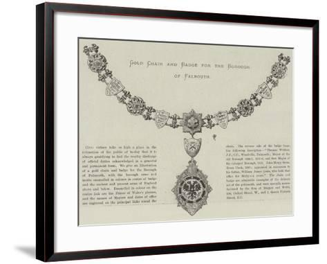 Gold Chain and Badge for the Borough of Falmouth--Framed Art Print