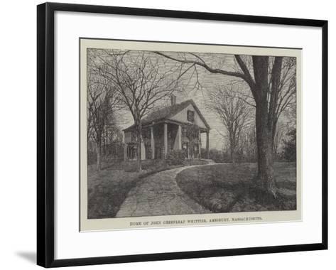 Home of John Greenleaf Whittier, Amesbury, Massachusetts--Framed Art Print