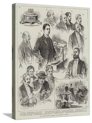 The General Election Campaign, Lord Rosebery at Paisley--Stretched Canvas Print