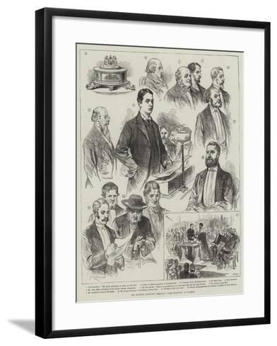 The General Election Campaign, Lord Rosebery at Paisley--Framed Art Print
