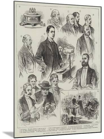 The General Election Campaign, Lord Rosebery at Paisley--Mounted Giclee Print