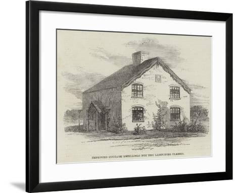 Improved Cottage Dwellings for the Labouring Classes--Framed Art Print