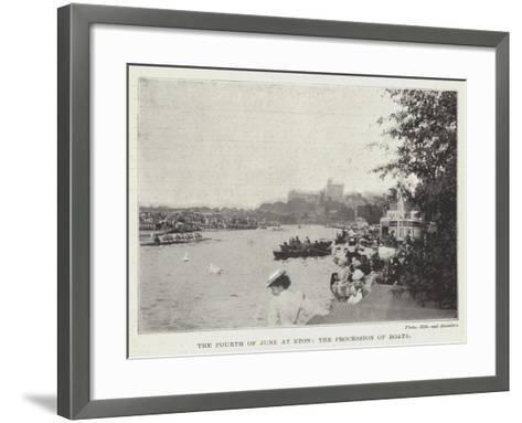The Fourth of June at Eton, the Procession of Boats--Framed Art Print