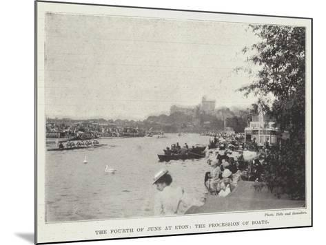 The Fourth of June at Eton, the Procession of Boats--Mounted Giclee Print