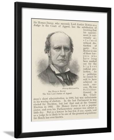 Sir Horace Davey, the New Lord Justice of Appeal--Framed Art Print