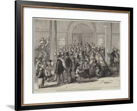 Drury-Lane Theatre, Engaging for the Pantomime--Framed Art Print
