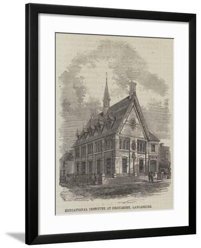Educational Institute at Droylsden, Lancashire--Framed Art Print