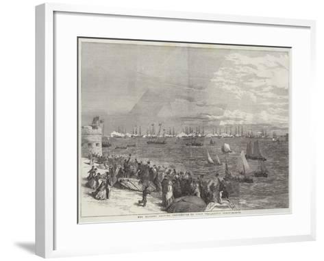 Her Majesty Leaving Portsmouth to Visit the Baltic Fleet--Framed Art Print