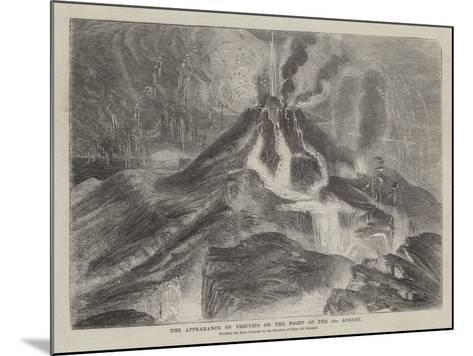 The Appearance of Vesuvius on the Night of the 23 August--Mounted Giclee Print
