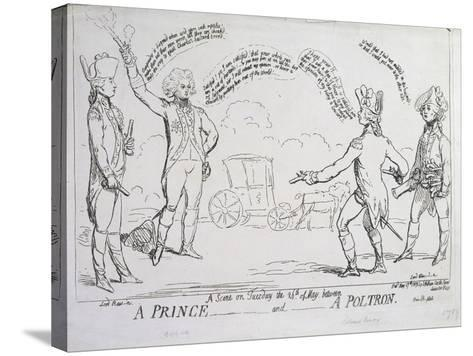 A Prince and a Poltron, Published by J. Aitken in 1789--Stretched Canvas Print