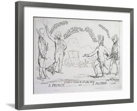 A Prince and a Poltron, Published by J. Aitken in 1789--Framed Art Print