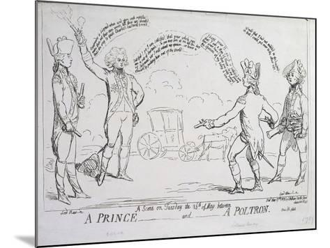 A Prince and a Poltron, Published by J. Aitken in 1789--Mounted Giclee Print