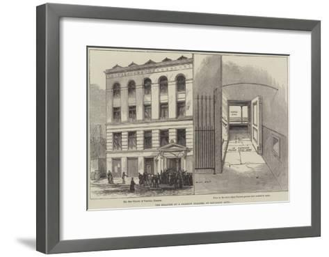 The Disaster at a Glasgow Theatre, on Saturday Last--Framed Art Print