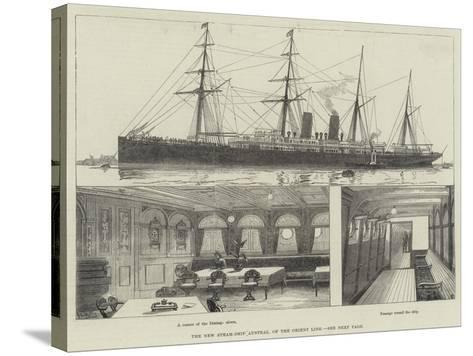 The New Steam-Ship Austral, of the Orient Line--Stretched Canvas Print