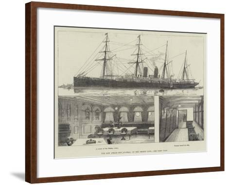The New Steam-Ship Austral, of the Orient Line--Framed Art Print