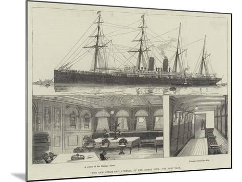 The New Steam-Ship Austral, of the Orient Line--Mounted Giclee Print