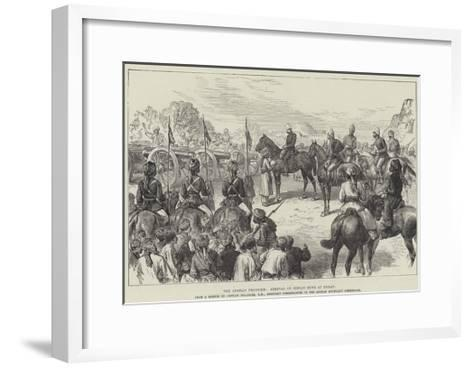 The Afghan Frontier, Arrival of Indian Guns at Herat--Framed Art Print