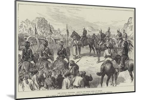 The Afghan Frontier, Arrival of Indian Guns at Herat--Mounted Giclee Print