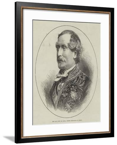 The Late Count De Jarnac, French Ambassador in London--Framed Art Print
