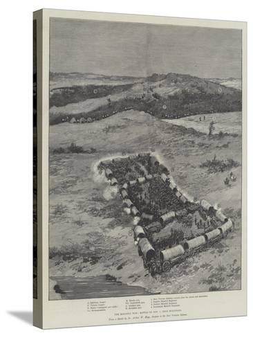 The Matabili War, Battle on 1 November, Near Buluwayo--Stretched Canvas Print