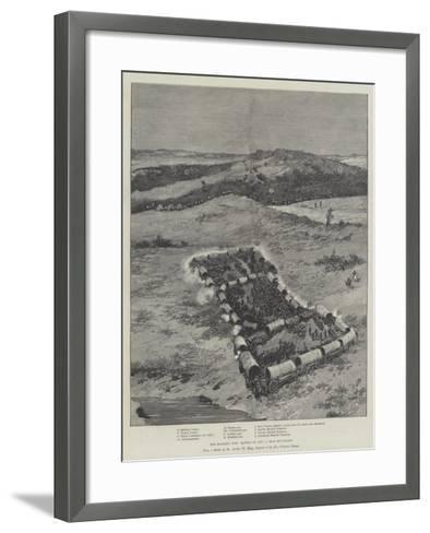 The Matabili War, Battle on 1 November, Near Buluwayo--Framed Art Print