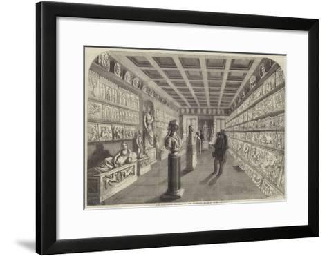 The Sculpture Gallery in the Campana Museum, Rome--Framed Art Print