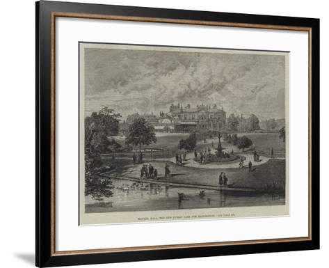 Manley Hall, the New Public Park for Manchester--Framed Art Print