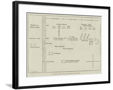 The War in Egypt, Plan of the Advance on Tel-El-Kebir--Framed Art Print