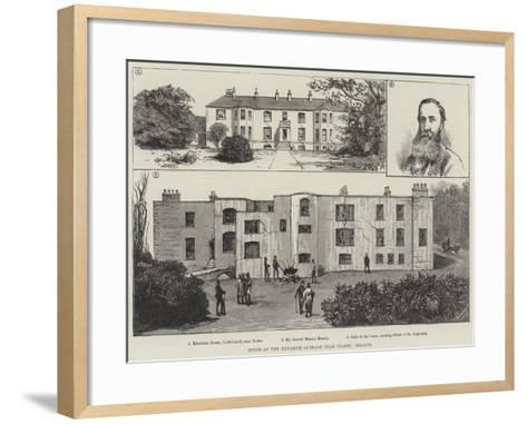 Scene of the Dynamite Outrage Near Tralee, Ireland--Framed Art Print
