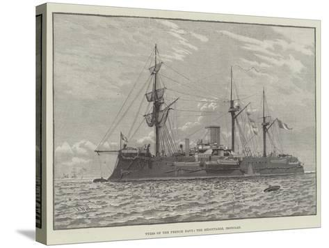 Types of the French Navy, the Redoutable, Ironclad--Stretched Canvas Print