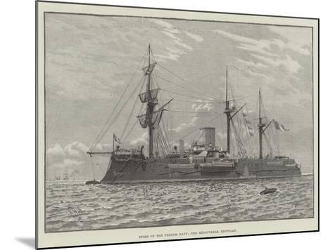 Types of the French Navy, the Redoutable, Ironclad--Mounted Giclee Print